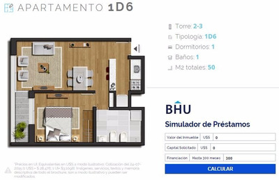 Apto 1 Dormitorio Nostrum Plaza