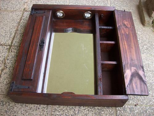 Botiquin Para Baño En Madera:Botiquin Rustico Madera Maciza 2 Puertas – $ 3400,00 en Mercado Libre