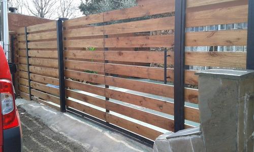 cerramientos perimetrales, madera, tejido,portones ,etc