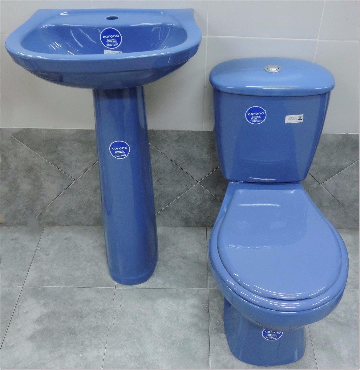 Juegos De Baño Corona:Juego De Baño Loza Sanitaria Color Water Inodoro Mochila – U$S 189,00